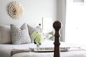 Kate Spade Dalmatian print pillow cover // Lacefield Dalmatian // spotted pillow cover