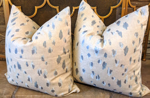 Lacefield Asher pillow cover // pearlized leopard print // animal print pillow cover