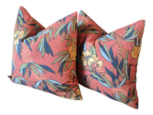 Load image into Gallery viewer, robert allen  nouveau fruit duck // citrus pillows // orange pillows // fruit decor