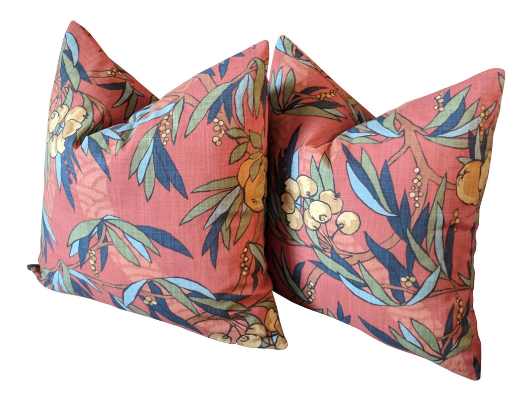 robert allen nouveau fruit // citrus pillows // orange pillows // fruit decor