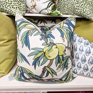 robert allen  nouveau fruit duck // citrus pillows // orange pillows // fruit decor
