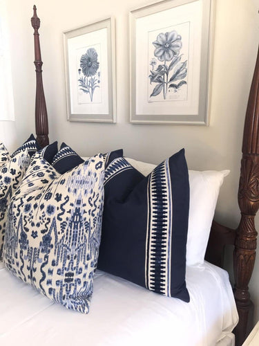 lacefield mumbai // green and blue // ikat pillow // chinoiserie pillow