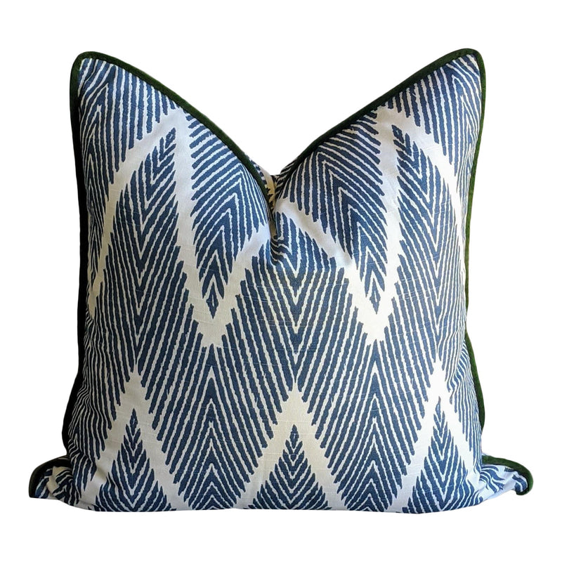 lacefield bali // zigzag // blue and white // geometric
