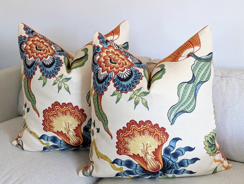 Hothouse Flowers by Schumacher - Knife edge front only