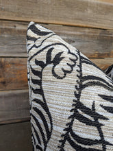 Load image into Gallery viewer, lux tigre print pillow cover // le tigre // neutral decor // bolster pillow // chinoiserie