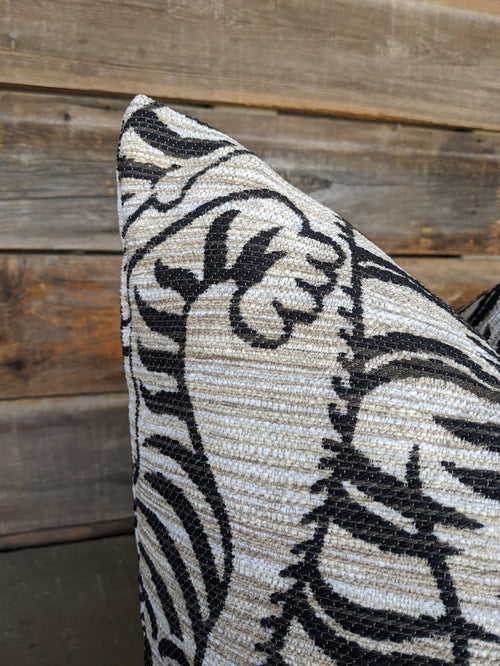 lux tigre print pillow cover // le tigre // neutral decor // bolster pillow // chinoiserie
