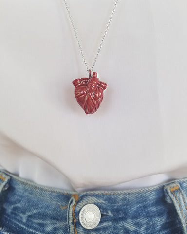 Zinc Heart Pendant Necklace