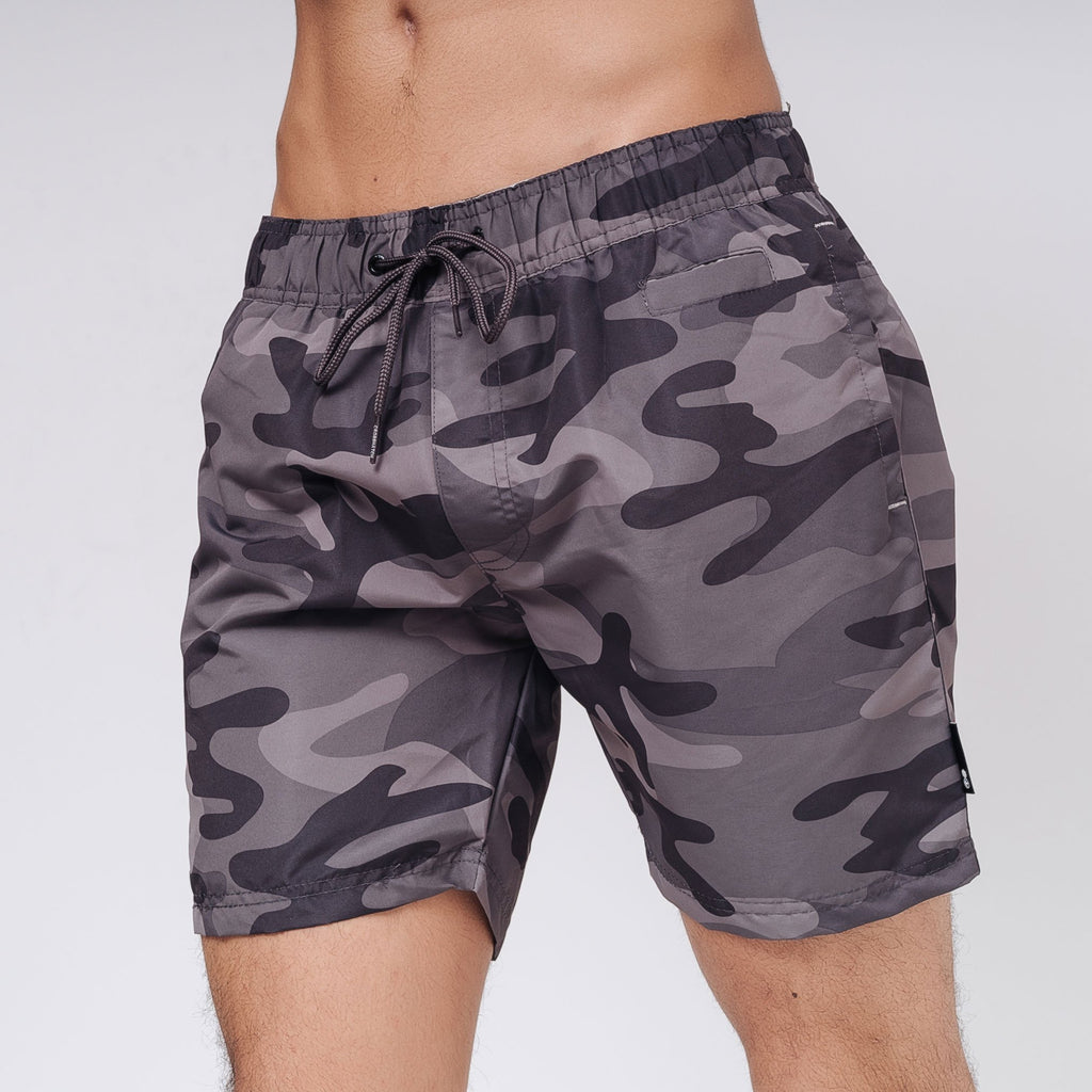 Camoswim Swim Shorts S / Charcoal Camo