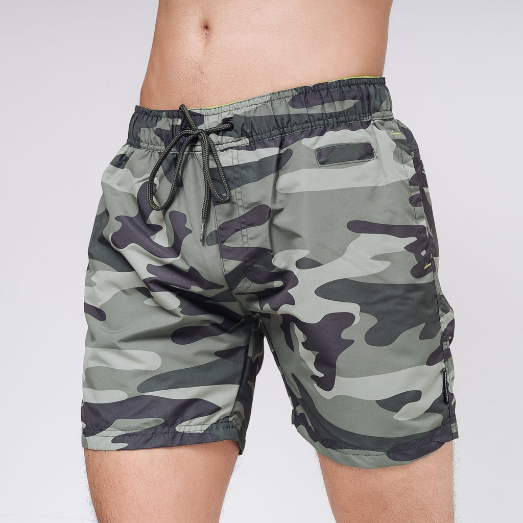 Camoswim Swim Shorts S / Green Camo