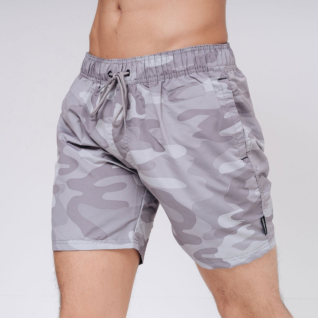 Camoswim Swim Shorts S / Lt Grey Camo