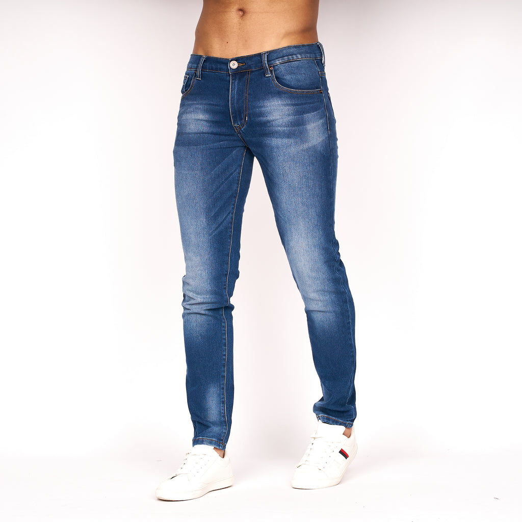 Emaciated Distressed Jeans Stone Wash