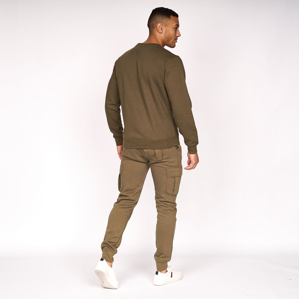 Cruetime Crew Sweat Dark Olive