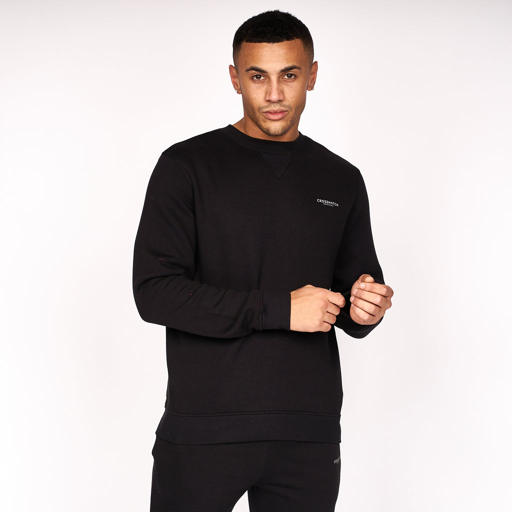 Traymax Crew Sweat 2pk Black/Grey Marl