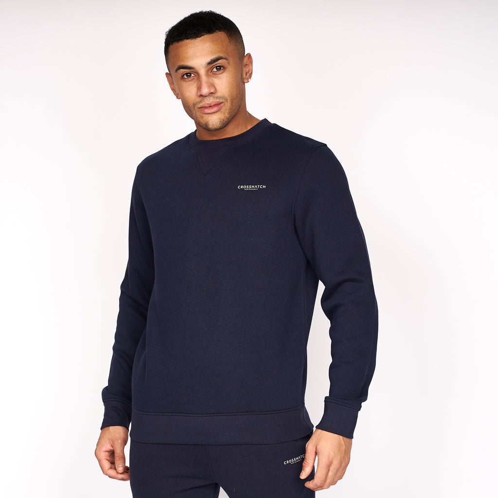 Traymax Crew Sweat 2pk Navy/Charcoal
