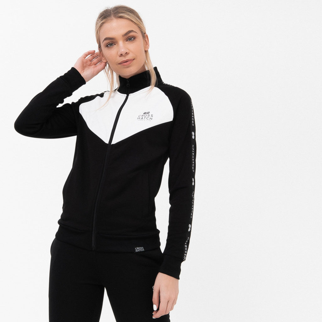 Ladies Cleona Tracktop Xs / Black Hoodies
