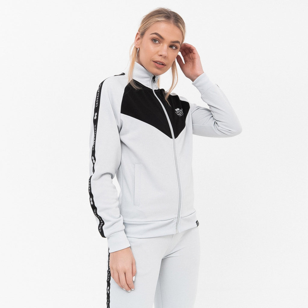 Ladies Cleona Tracktop Xs / Grey Hoodies