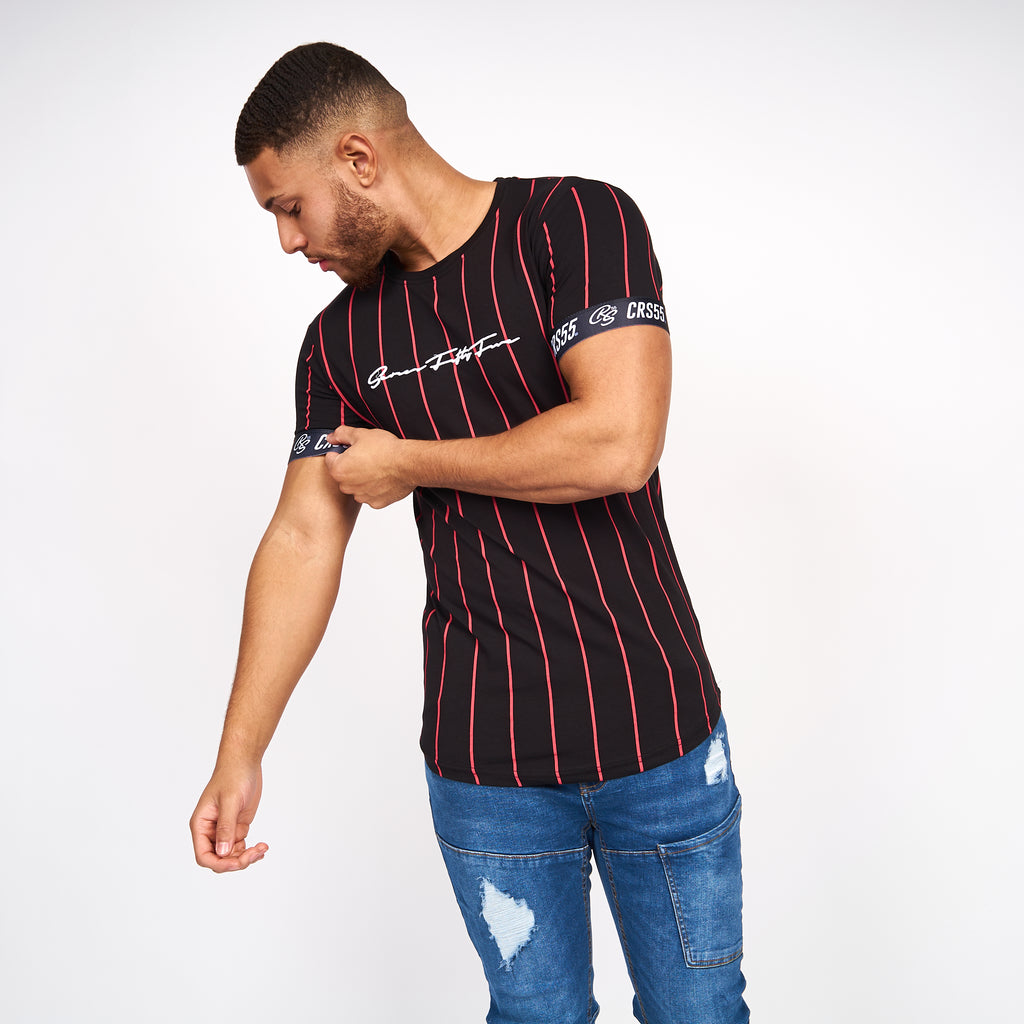 CRS55 men's striped t-shirt love island
