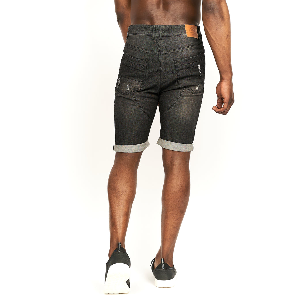 Keasey Denim Shorts Black Wash