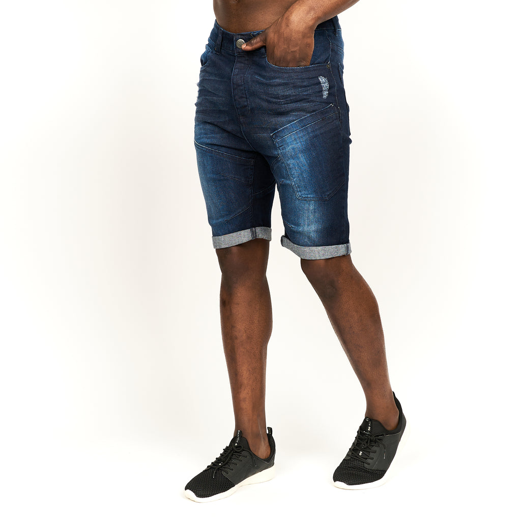 Keasey Denim Shorts Dark Wash