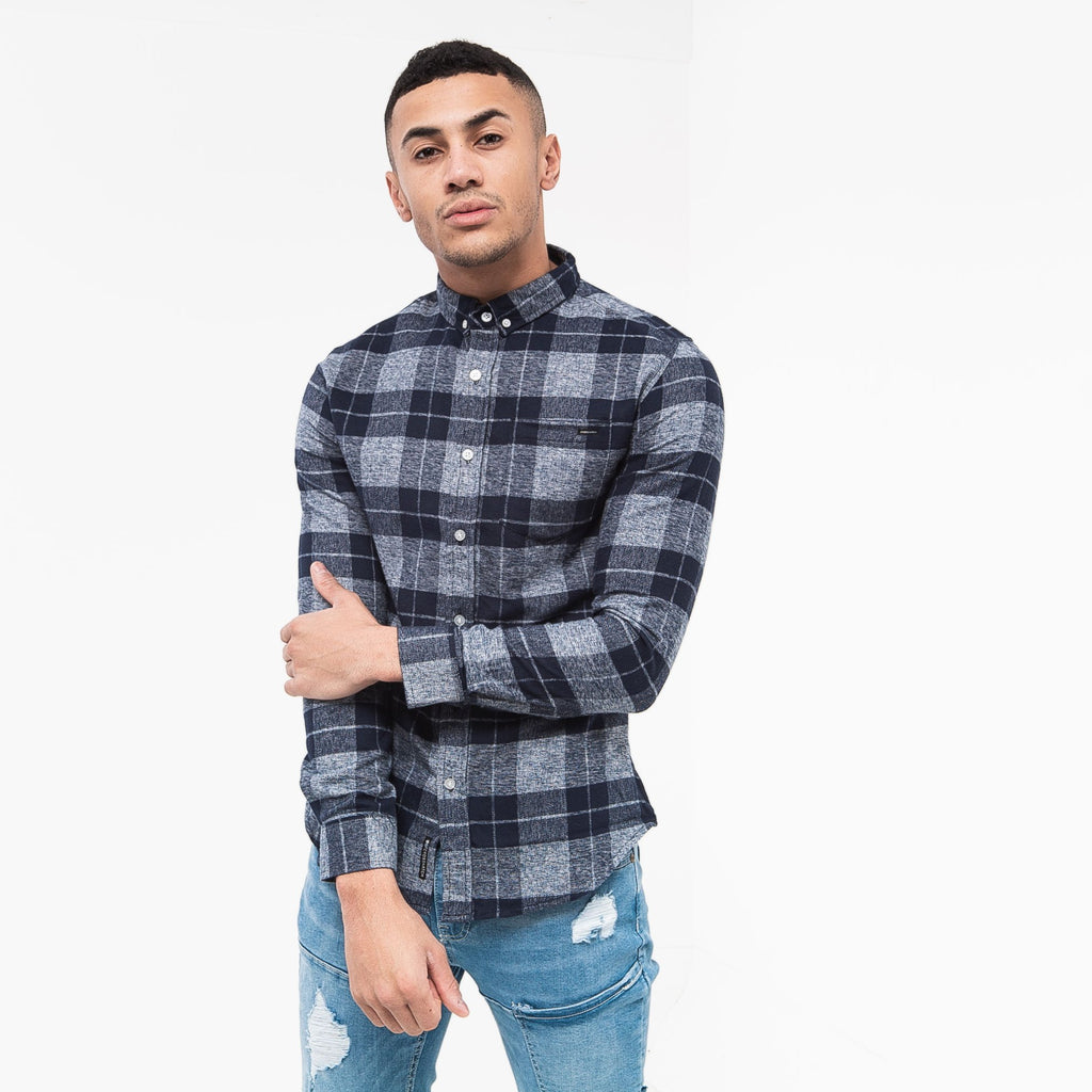 Shamen Shirt S / Navy Check Shirts