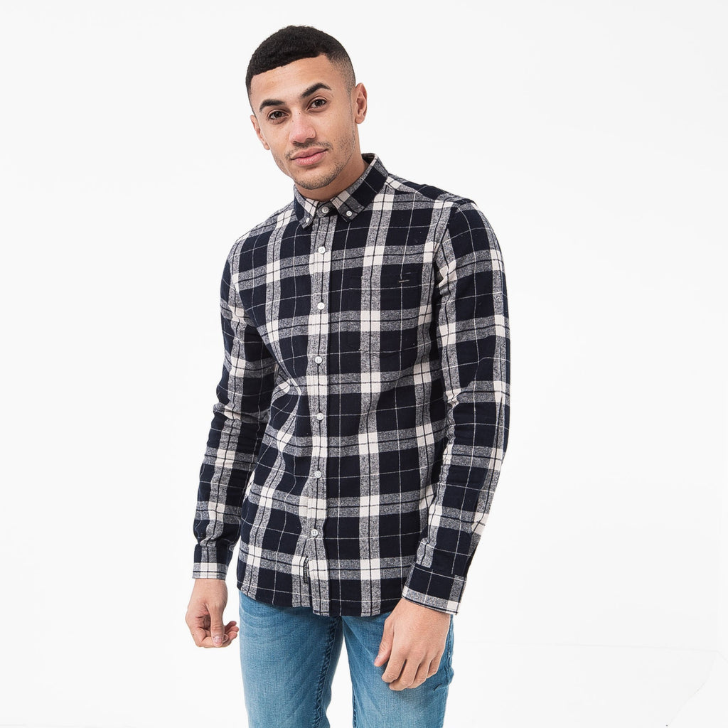 Hilmas Shirt S / Navy Check Shirts