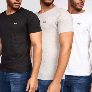 Carino Crew T-Shirts 3pk Assorted