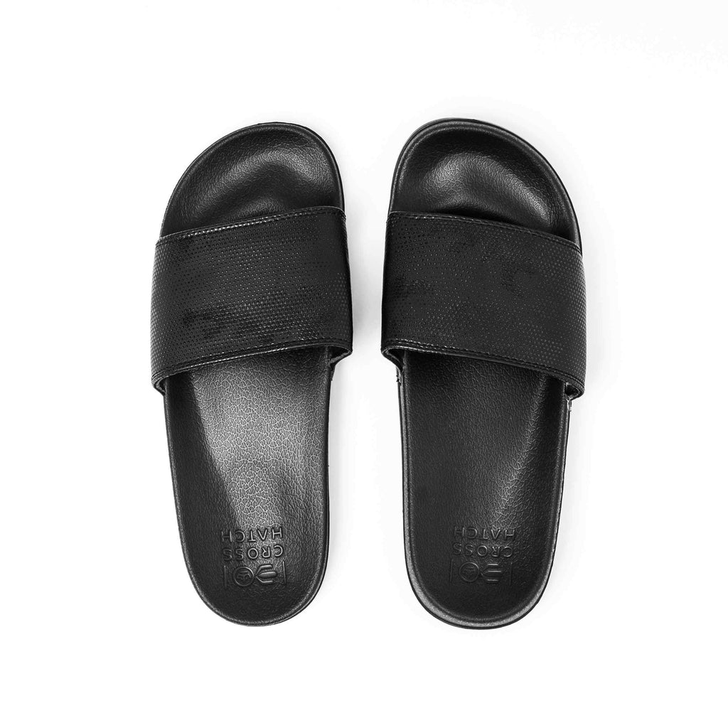 Navagio Sliders 6/7 / Black Footwear