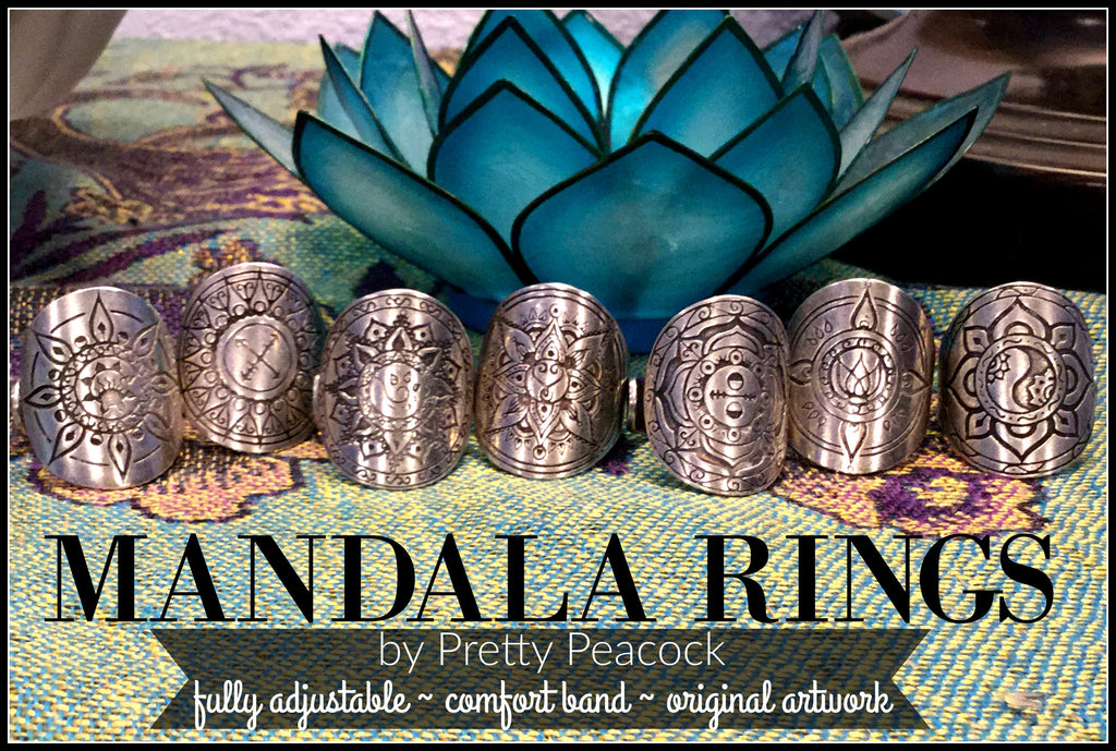 Mandala Rings - Fully adjustable to fit your whole tribe