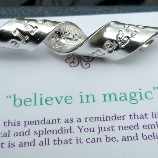 Believe In Magic Inspiral Pendant
