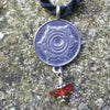 Sacral Chakra Pendant in Sterling Silver with Carnelian Gemstone
