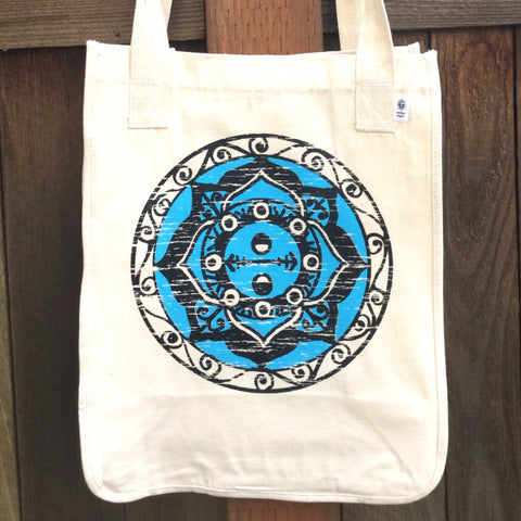 SALE Balance Mandala Organic Cotton Tote Bag