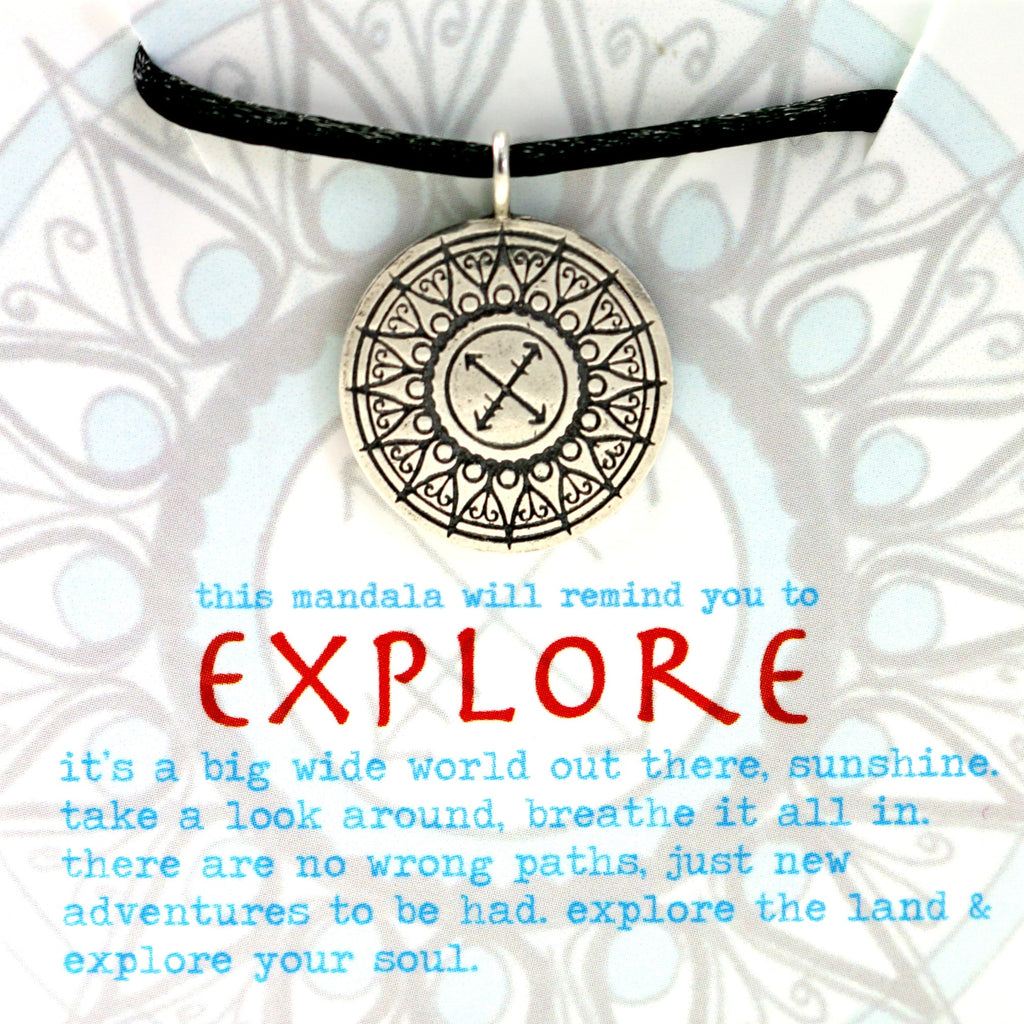 Explore Mandala Pendant in Sterling Silver