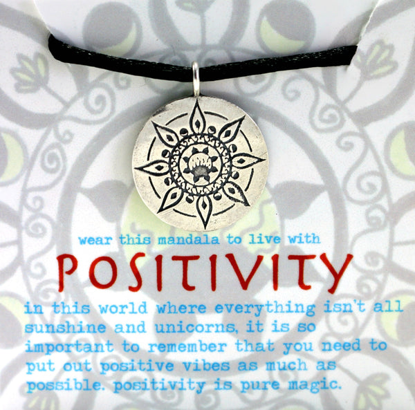 Positivity Mandala Pendant in Sterling Silver