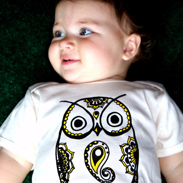 Organic Cotton Owl Onesie