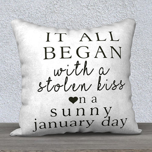 How It All Began PERSONALIZED Anniversary Pillow
