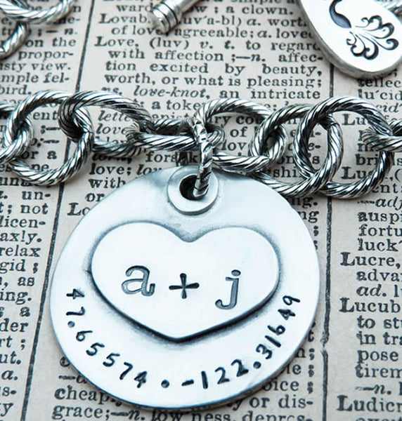 You Plus Me Personalized Charm in Sterling Silver