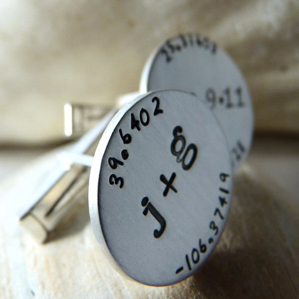 Here and Now Wedding Day Keepsake Cuff Links