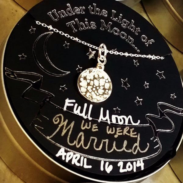 Under the Light of This Moon - Custom Moon Phase Pendant Gift