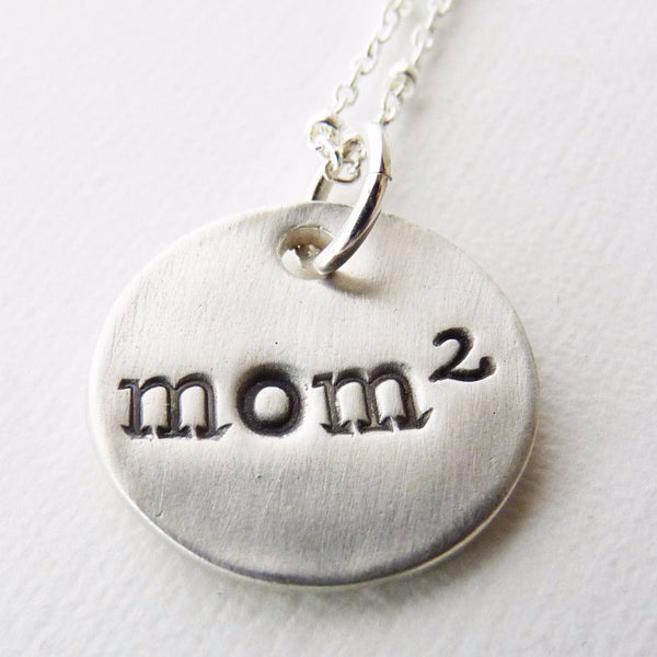 Exponential Mom Pendant  ~ Mom of 2