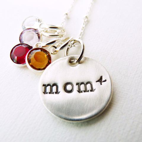 Exponential Mom Pendant  ~ Mom of 4