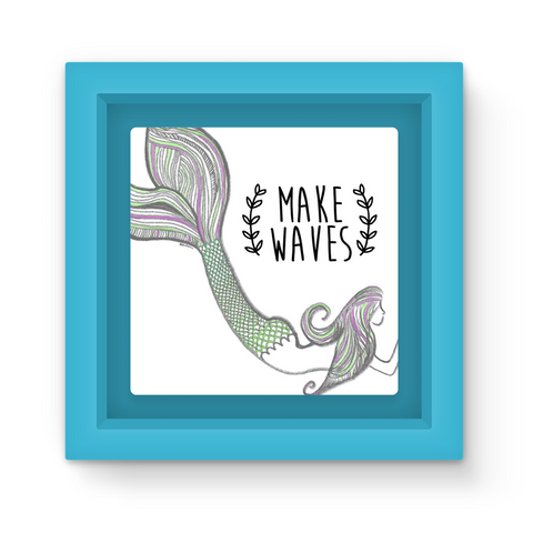 Make Waves Mermaid Magnet Frame