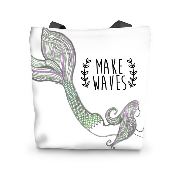 Make Waves Mermaid Tote Bag