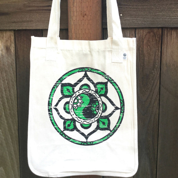 SALE Harmony Mandala Organic Cotton Tote Bag