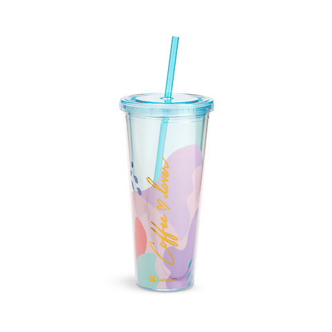 Vaso Malva de acrílico con doble pared de 24 oz