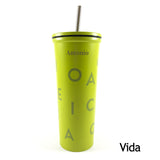 Vaso Verano de acero inoxidable con doble pared de 600 ml