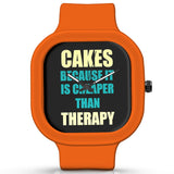 Unisex Men And Women Wrist Watch India | Cakes Because It Is Cheaper Than Therapy Silicone Unisex Wrist Watch For Men And Women Online India