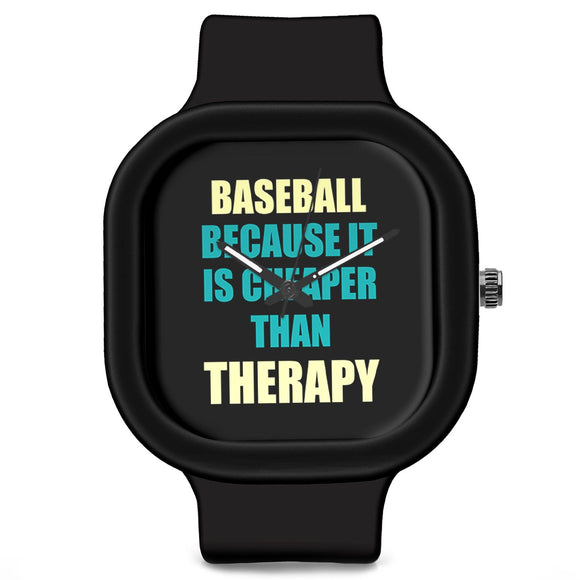Unisex Men And Women Wrist Watch India | Baseball Because It Is Cheaper Than Therapy Silicone Unisex Wrist Watch For Men And Women Online India