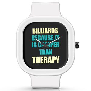 Unisex Men And Women Wrist Watch India | Billiards Because It Is Cheaper Than Therapy Silicone Unisex Wrist Watch For Men And Women Online India