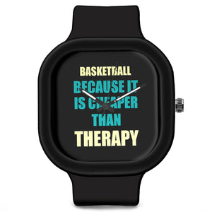 Unisex Men And Women Wrist Watch India | Basketball Because It Is Cheaper Than Therapy Silicone Unisex Wrist Watch For Men And Women Online India