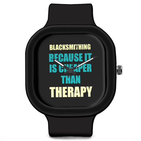 Unisex Men And Women Wrist Watch India | Blacksmithing Because It Is Cheaper Than Therapy Silicone Unisex Wrist Watch For Men And Women Online India